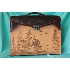 Винтажный кожаный портфель